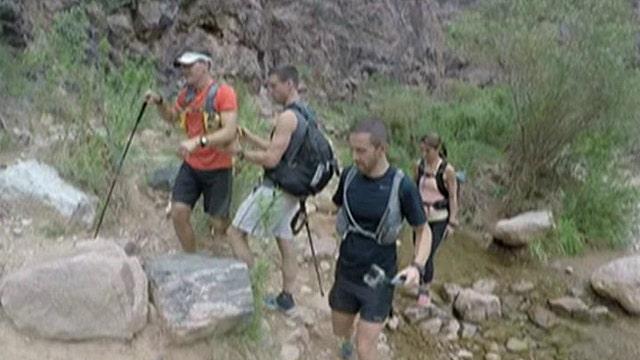 First blind man runs Grand Canyon's 'Rim to Rim' challenge