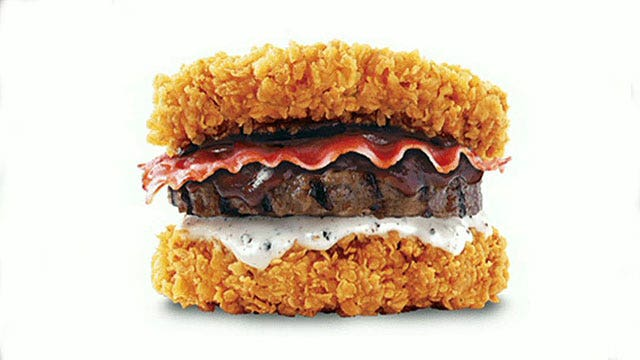 KFC creates bacon cheeseburger with fried chicken bun