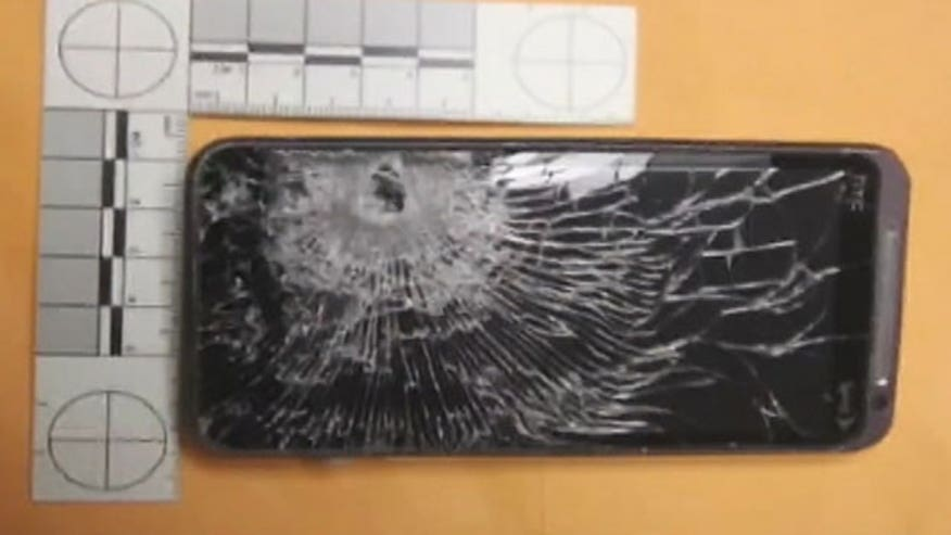 Phone stops bullet during robbery