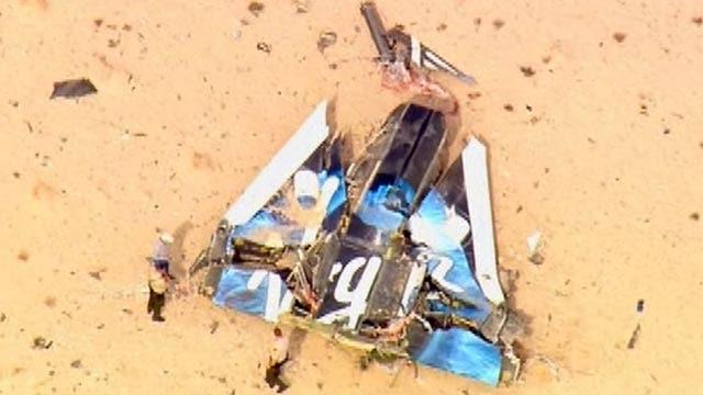 Test flight of Virgin Galactic rocket crashes in CA desert