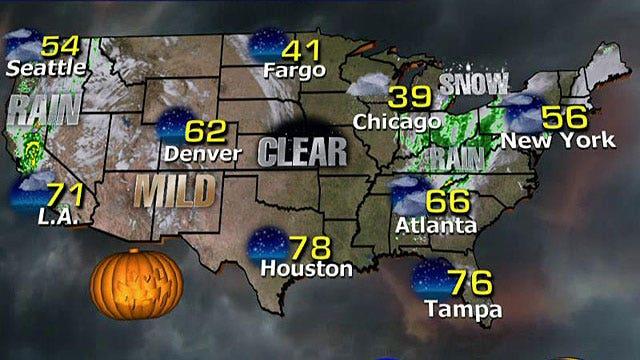 National forecast for Friday, October 31