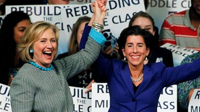 Hillary Clinton stumps for Democrats as key races tighten