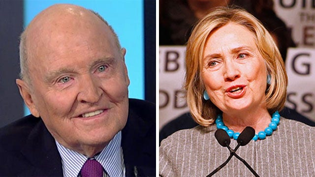 Jack Welch on Hillary Clinton's anti-business comments