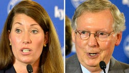 Senate Republican Leader Mitch McConnell is pulling away from Democratic challenger Alison Lundergan Grimes in the final stretch of this hard-fought race, polls show, as the incumbent looks to not only lock up a sixth term but also ascend to majority leader if his party takes the Senate.