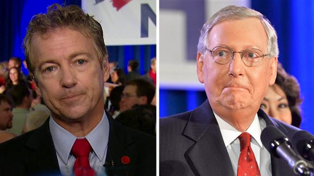 Sen. Rand Paul reacts to Mitch McConnell's win