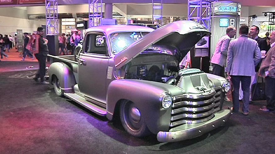 Matt Finn checks out the latest trends in custom cars at the 2013 SEMA show, including a 21st century take on the classic Chevy Thriftmaster pickup.