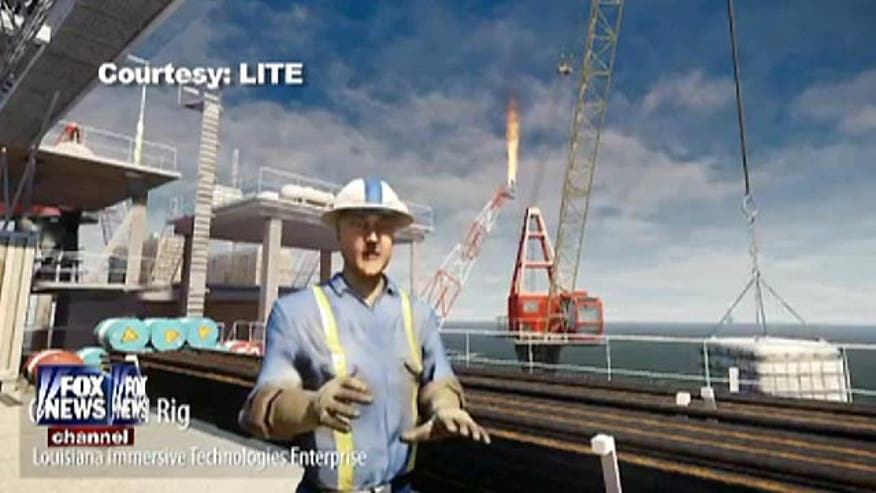 Kyle Rothenberg shows how an immersive gaming experience helps prepare for a job on an oil rig