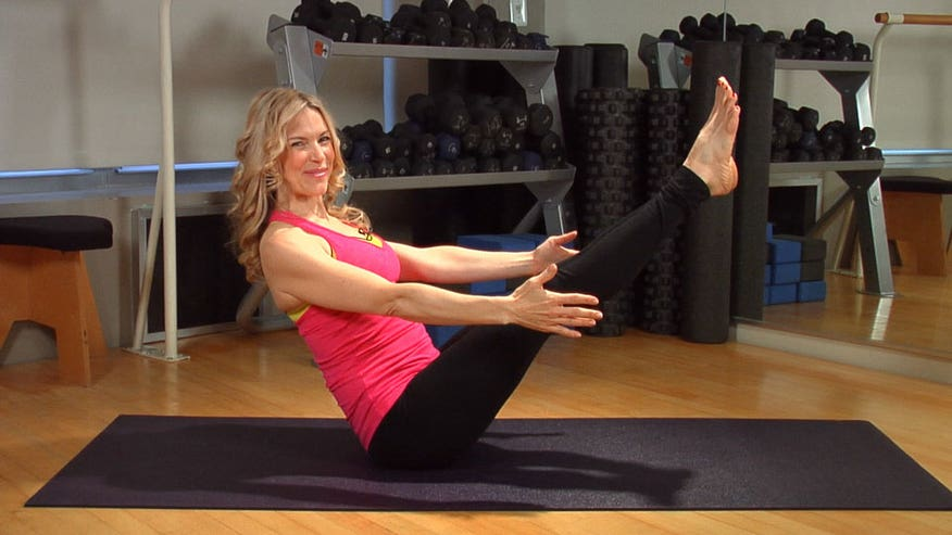 Celebrity Yoga and Pilates Instructor, Kristin McGee shows us how to improve posture with yoga.