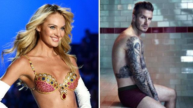 Victoria's Secret models, David Beckham strip down