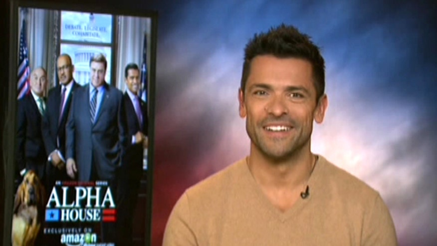 Actor Mark Consuelos stars in 'Alpha House,' a show centered around four Republican senators living together in DC