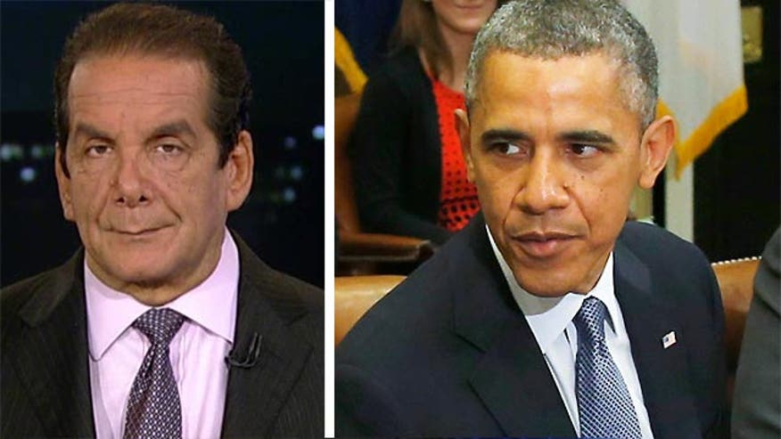 "Krauthammer said while Republicans can't do much without control of the Senate they should make sure they don't ""lose their heads"" following Obama's remarks on immigration."