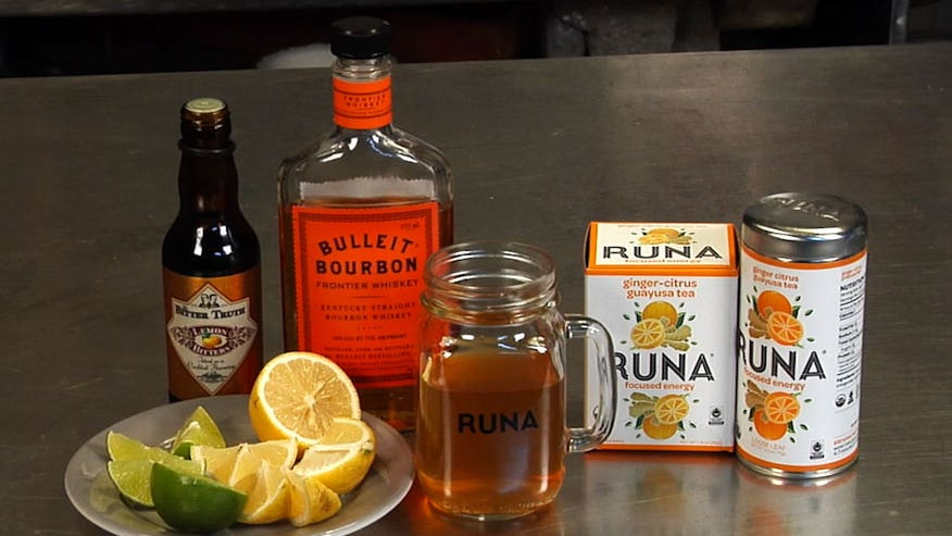 RUNA tea shows us how to make their favorite Ginger Citrus Whiskey tea cocktail to warm up your happy hour.
