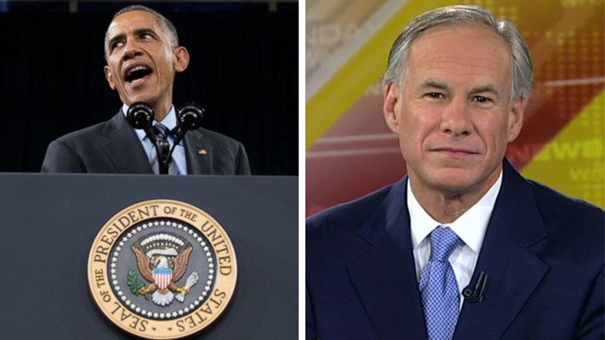 Texas Gov.-elect Greg Abbott ready to sue the president on behalf of his state
