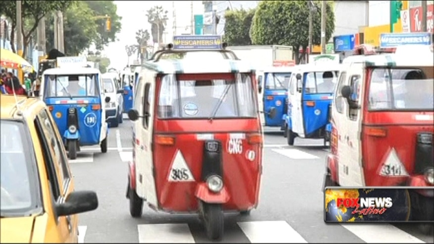 With their cheap fares and ability to drive up into hillside settlements, the three-wheeled vehicles known as mototaxis are an increasingly popular way to get around Lima, Peru.