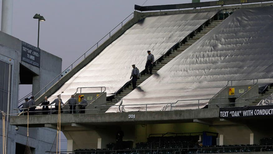 Woman leaps from upper deck at Raiders game