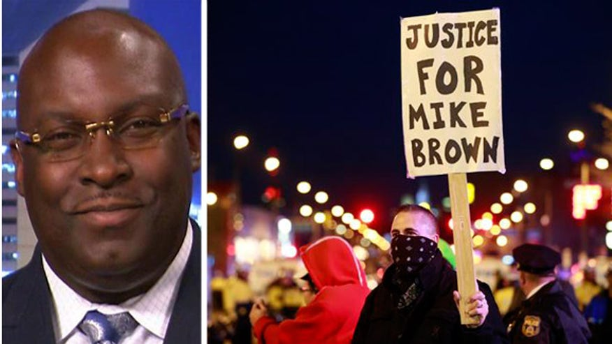 Daryl Parks reacts to no indictment in Michael Brown shooting
