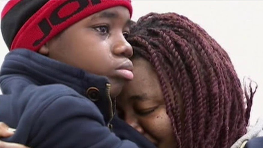 Mother and son reunite after boy's captors arrested
