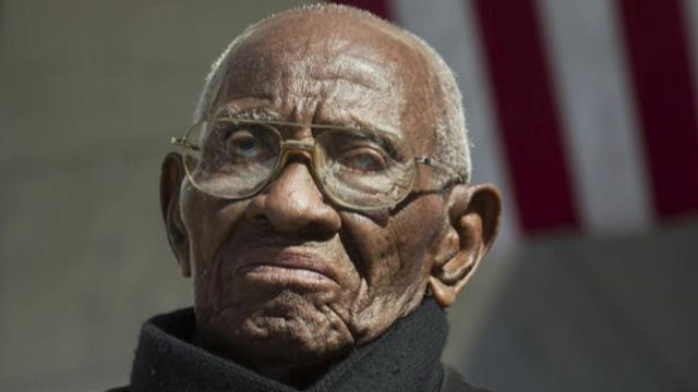 Richard Overton served decades ago, during the Second World War.