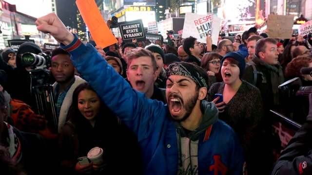 Protests erupt in NYC following decision on Garner case