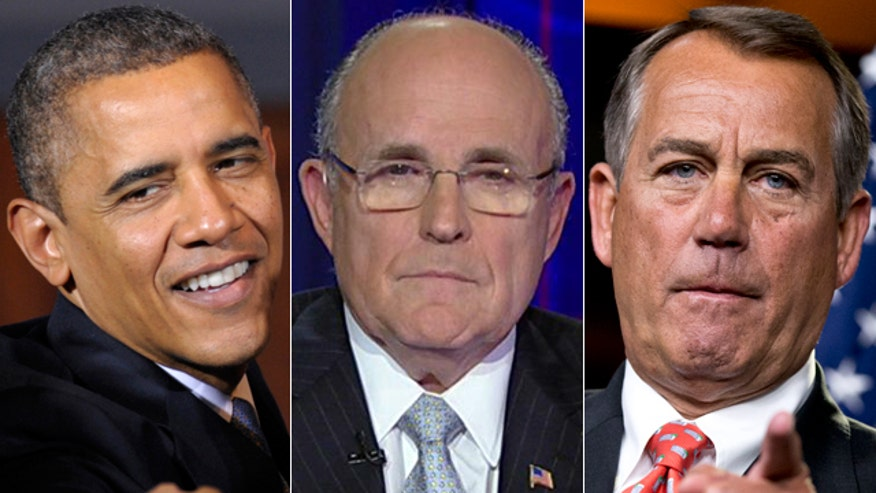 Former NYC mayor Rudy Giuliani on what Pres. Obama and Republicans must do to thaw the frozen fiscal cliff negotiations
