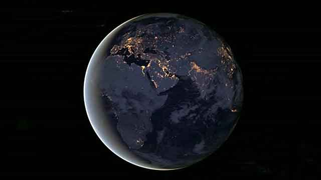 What does Earth look like at night?