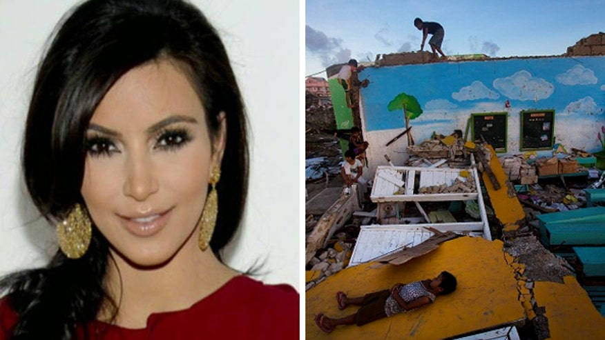 Kim Kardashian under fire for only giving 10 percent of proceeds to typhoon victims