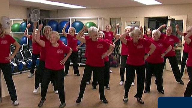 Dancing seniors go Gangnam style