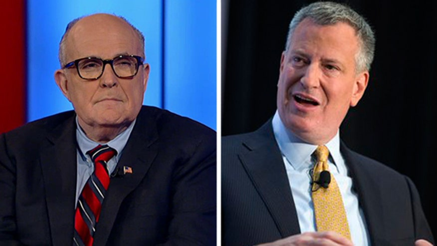 Mayor de Blasio: Giuliani 'fundamentally misunderstands reality'