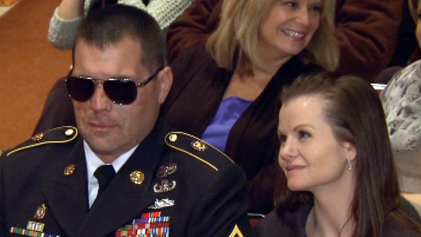 Injured soldier returns to hometown