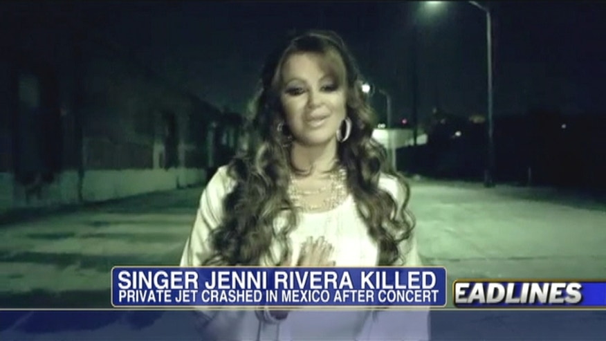 Mexican-American superstar singer Jenni Rivera is presumed killed in a plane crash.