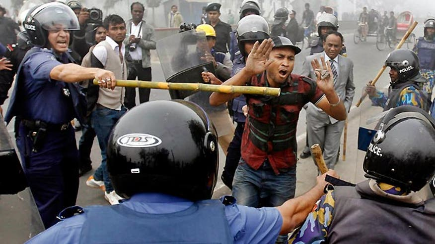 Violence erupts in capital of Dhaka