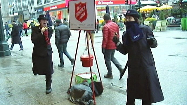 Salvation Army bell ringers take it to the next level