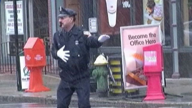 Dancing cop returns to the streets