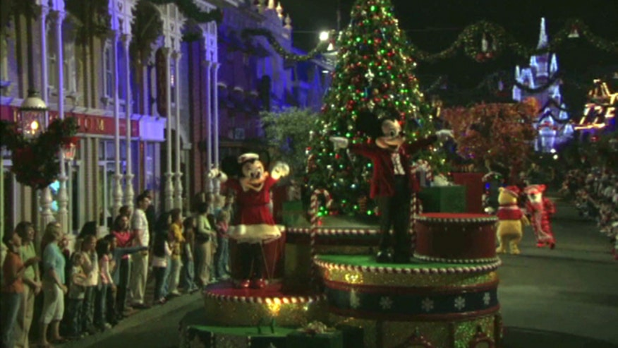 Orlando's theme parks are all decked out for the holidays with special lights,shows and parades