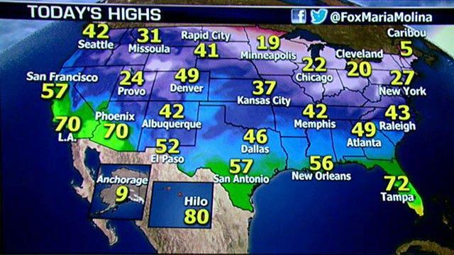 National forecast for Thursday, December 12