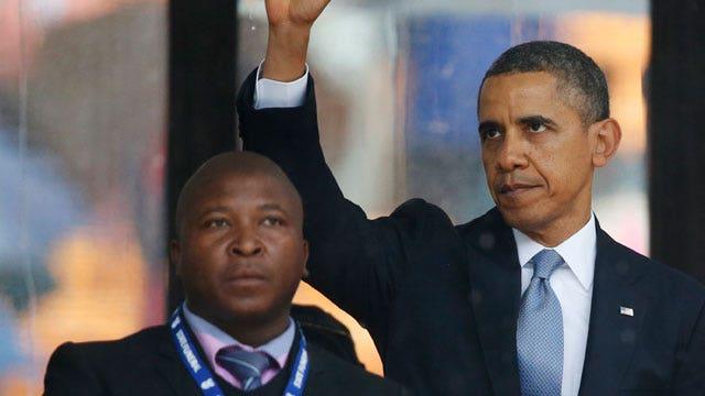Interpreter: I was hallucinating during Mandela memorial