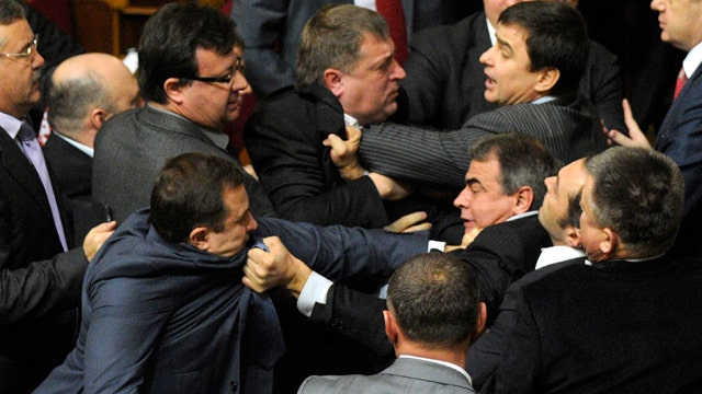 Violence breaks out in Ukraine's newly elected Parliament