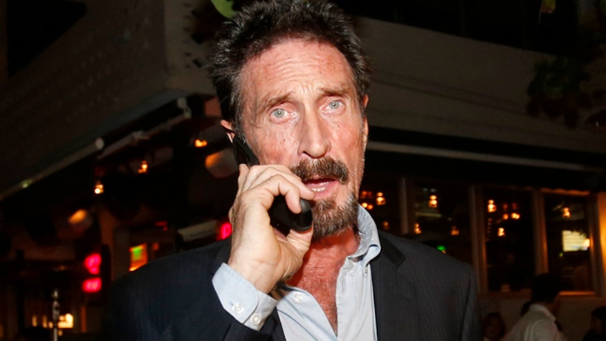 Phil Keating reports on John McAfee
