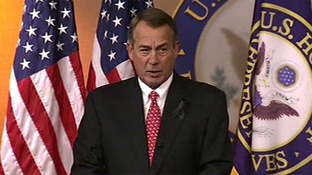 Media coverage of Boehner's brawl with conservatives