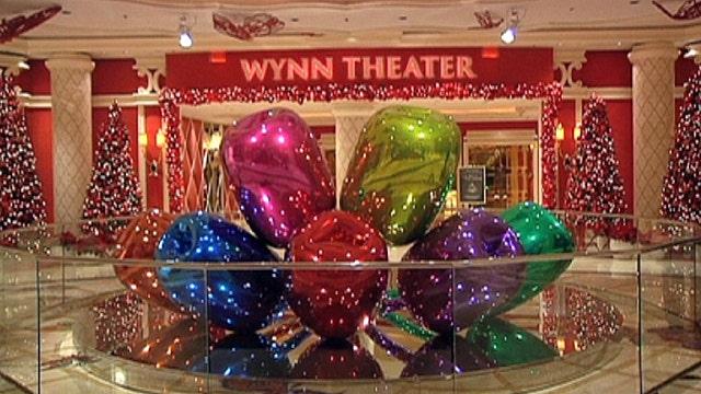 Extravagant Vegas holiday displays