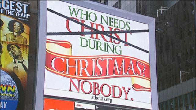 Atheist billboard targeting Christians