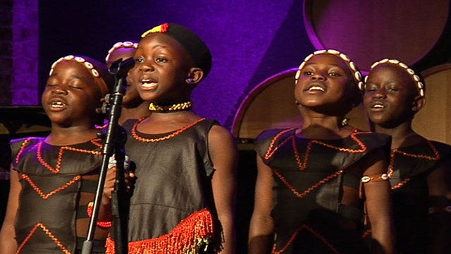 Children's choir help the most vulnerable