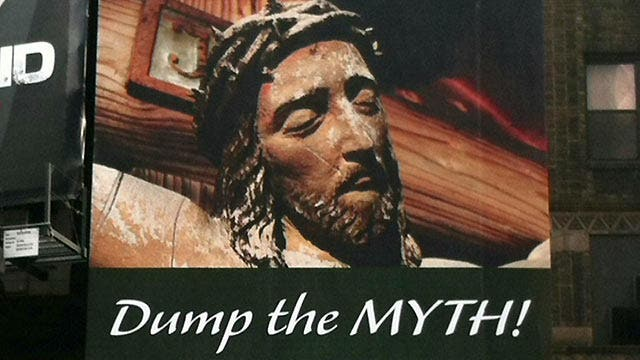 Atheists dub Jesus a 'myth' on Times Square billboard