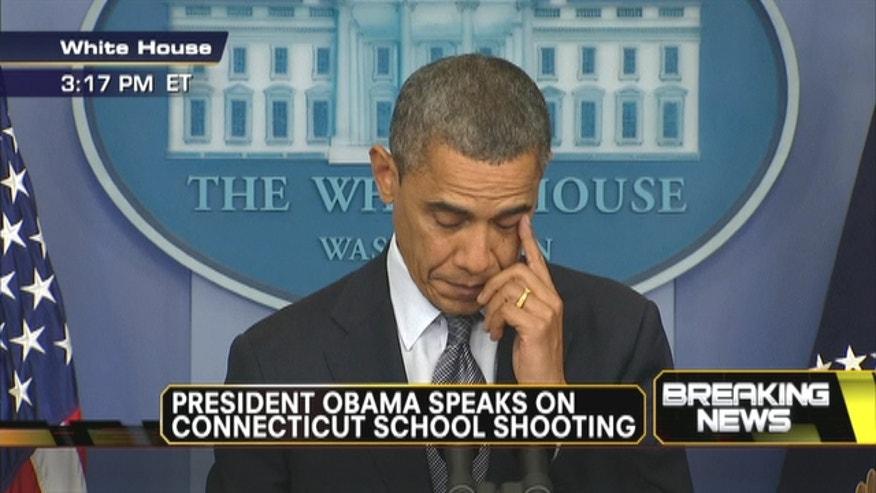 President Barack Obama speaks on Connecticut school shooting.