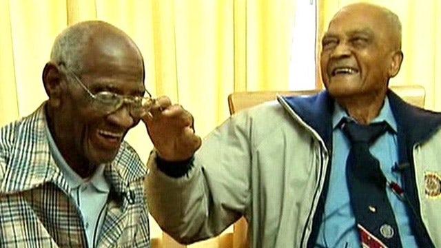 107 year-old World War II veterans meet for first time