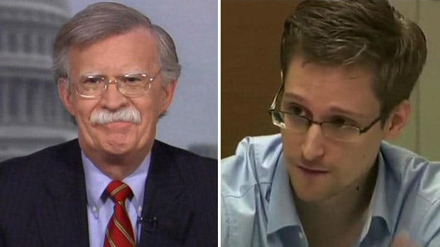 Amb. Bolton: Snowden doesn't deserve amnesty for us