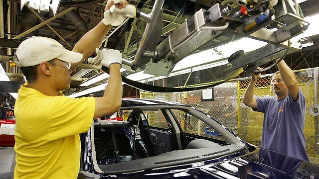 US factories shifting into high gear