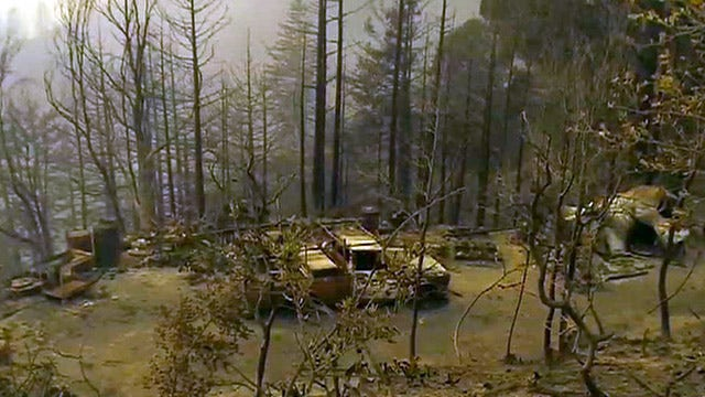 Wildfire destroys 15 homes, evacuates 100 people in Calif.