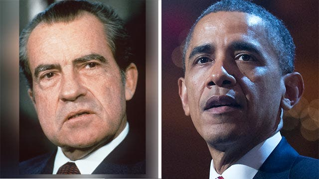 Obama's approval rating keeping company with Nixon?