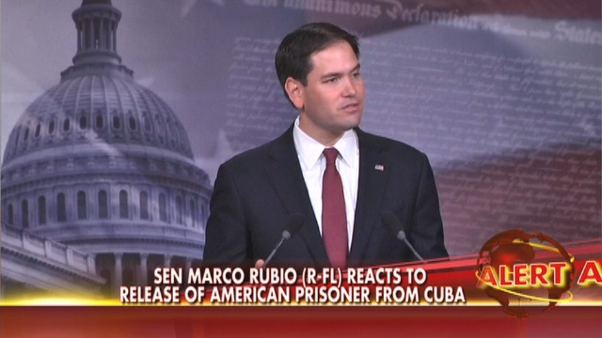 Florida senator Marco Rubio slams President Obama for agreeing to prisoner swap and vows to fight to keep embargo.